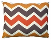 Orange Brown Chevron Outdoor Pillow