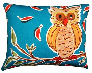 Owl on Branch Outdoor Pillow - Click to enlarge