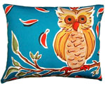 Owl on Branch Outdoor Pillow