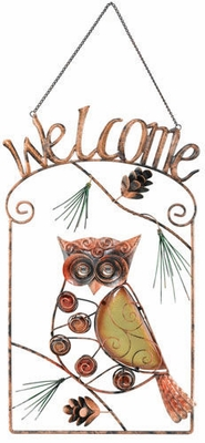 Owl Welcome Sign - Click to enlarge