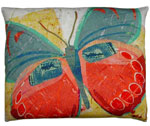 Paper Butterfly 3 Outdoor Pillow