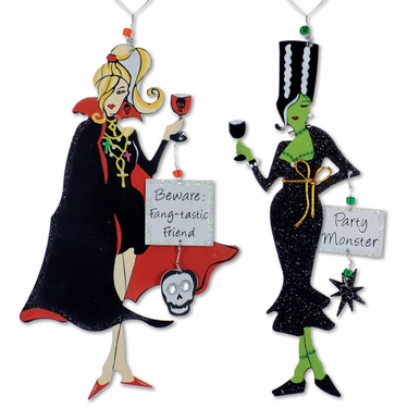 Party Monster Wine Charms (Set of 4) - Click to enlarge