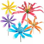 Party Petals Flower Garden Stakes (Set of 6)