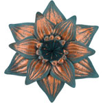 Patina Daffodil Flower Wall Decor