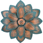 Patina Dahlia Flower Wall Decor