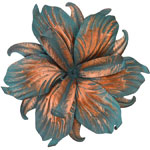 Patina Iris Flower Wall Decor