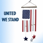 Patriotic American Flag Wind Chime