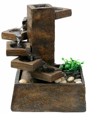Peaceful Steps Tabletop Fountain - Click to enlarge