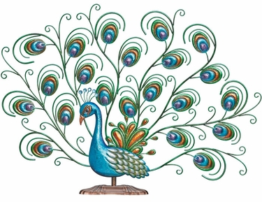 Lovely Peacock Bird Decor - Click to enlarge