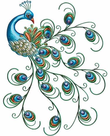 Lovely Peacock Bird Wall Decor - Click to enlarge