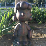 "Peanuts Garden Collection: 19"" Lucy - Bronze Patina"