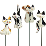 Pence Pets Cats Plant Stakes (Set of 4)
