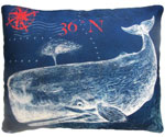 Pier 45 Whale Outdoor Pillow