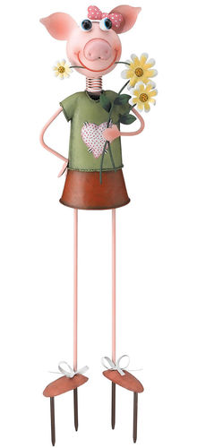 Pig Lady Garden Decor - Click to enlarge