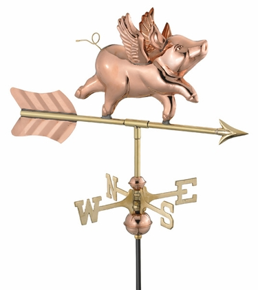 Pig with Wings Weathervane - Click to enlarge
