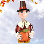 Pilgrim Boy Garden Decor