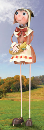 Pilgrim Girl Garden Decor - Click to enlarge