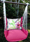 Pink Aviary Bird Hammock Chair Swing Set