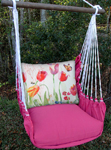 Pink Aviary Butterrly Hammock Chair Swing Set