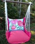 Pink Coneflowers Hammock Chair Swing Set