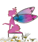 Small Pink Fairy Stakes (Set of 4)