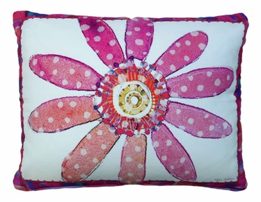 Pink Flower Dreams Outdoor Pillow - Click to enlarge