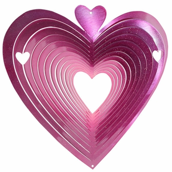 Pink Heart Wind Spinner - Click to enlarge