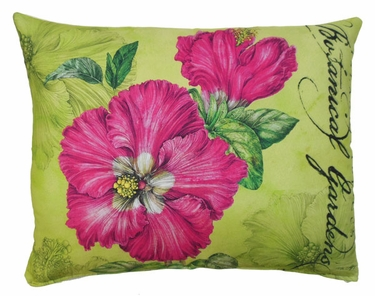 Pink Hibiscus Outdoor Pillow - Click to enlarge