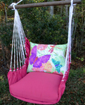 Pink Nature Butterflies Hammock Chair Swing Set