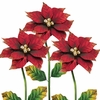 Poinsettia Flower Stakes (Set of 3)