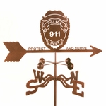 Police Badge Weathervane