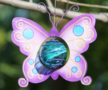 Purple Butterfly Art Glow Catcher - Click to enlarge