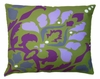 Purple Damask Outdoor Pillow