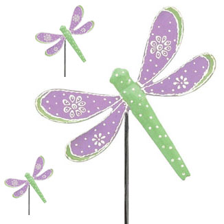 Purple Dragonfly Picks (Set of 6) - Click to enlarge