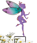 Small Purple Fairy Stakes (Set of 4)