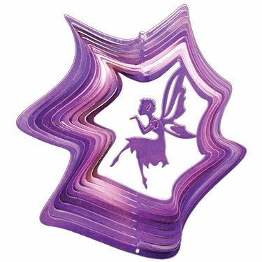 Purple Fairy Wind Spinner - Click to enlarge