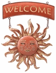 Radiant Sun Welcome Sign