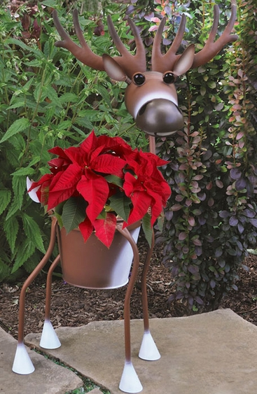 Randolph the White Deer Planter - Click to enlarge