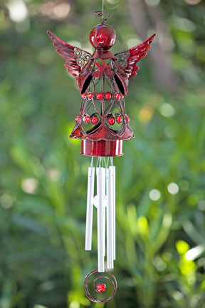 Red Angel W Heart Wind Chime Only 34 99 At Garden Fun