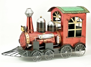 Red Christmas Train Decor - Click to enlarge