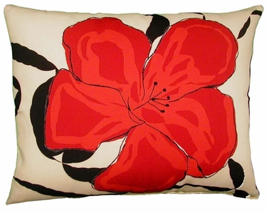 Red Flower Outdoor Pillow - Click to enlarge