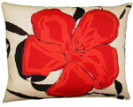 Red Flower Outdoor Pillow