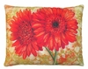 Red Gerbera Pair Outdoor Pillow