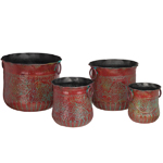 Red Grapes Nesting Planters (Set of 4)