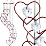 Red Hearts Spiral Suncatcher
