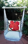 Ticking Black Red Hibiscus Hammock Chair Swing Set