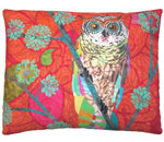 Red Owl Outdoor Pillow