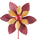 "19"" Ruffled Flower Wind Spinner"