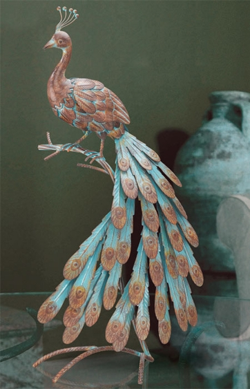 Rustic Peacock Decor - Cascade - Click to enlarge