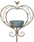 Rustic Heart Bird Feeder Stake
